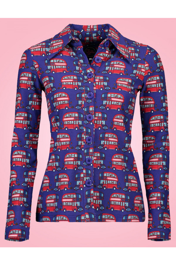 BUTTON SHIRT LONDON PURPLE