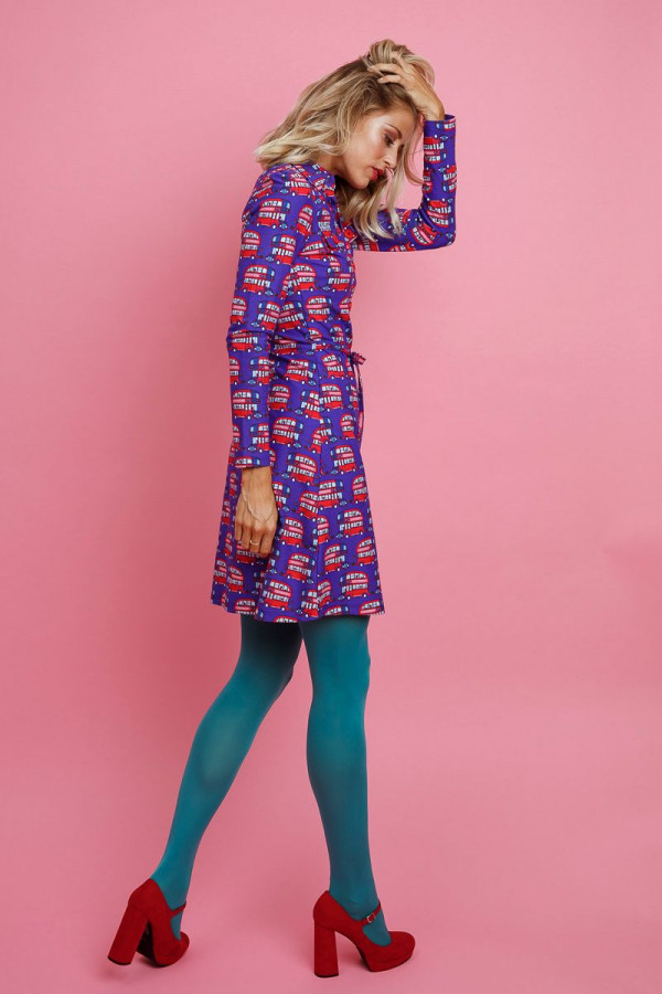 DRESS BETSY LONDON PURPLE