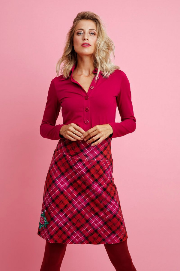 BUTTON SHIRT CERISE