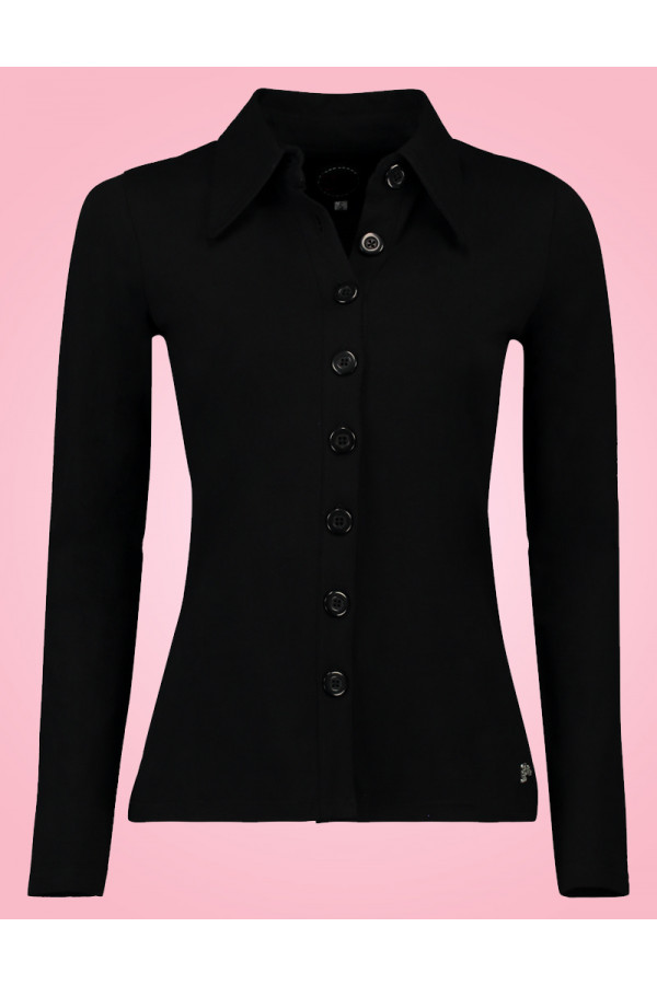 BUTTON SHIRT BLACK