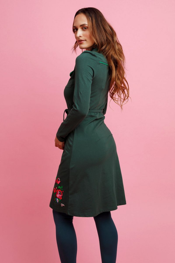 DRESS BETSY GREEN
