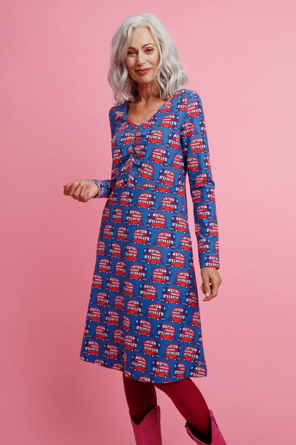 DRESS BETTY LONDON BLUE