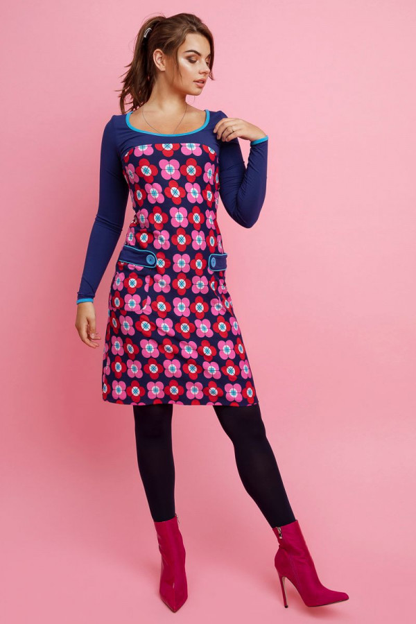 DRESS LILLY PETAL NAVY