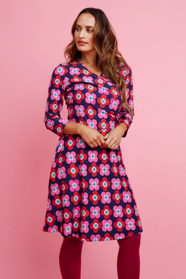 DRESS TANGO PETAL NAVY