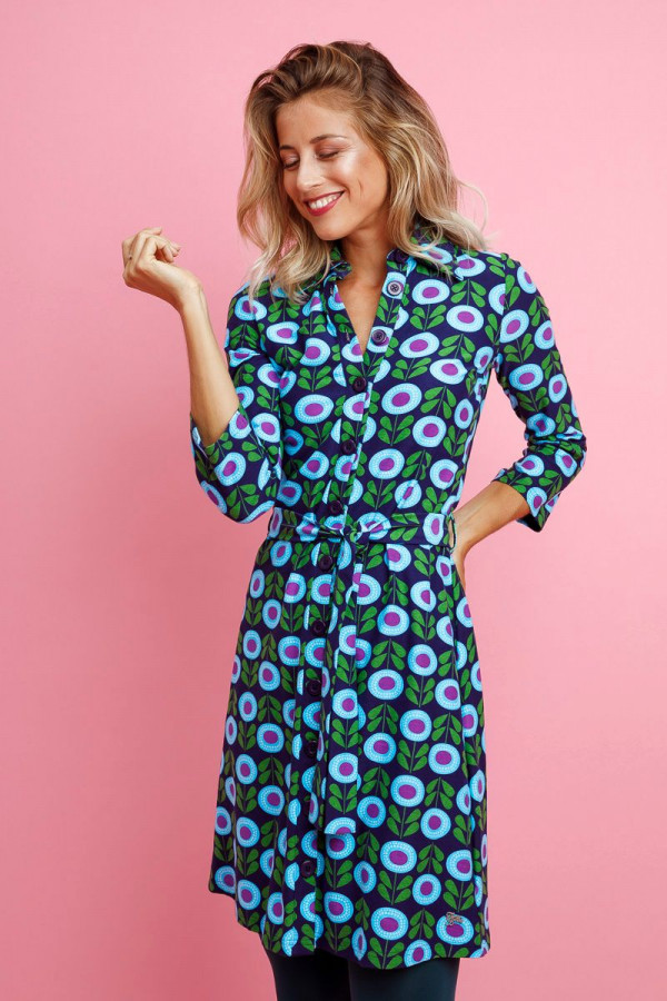 SHIRT DRESS PETUNIA NAVY