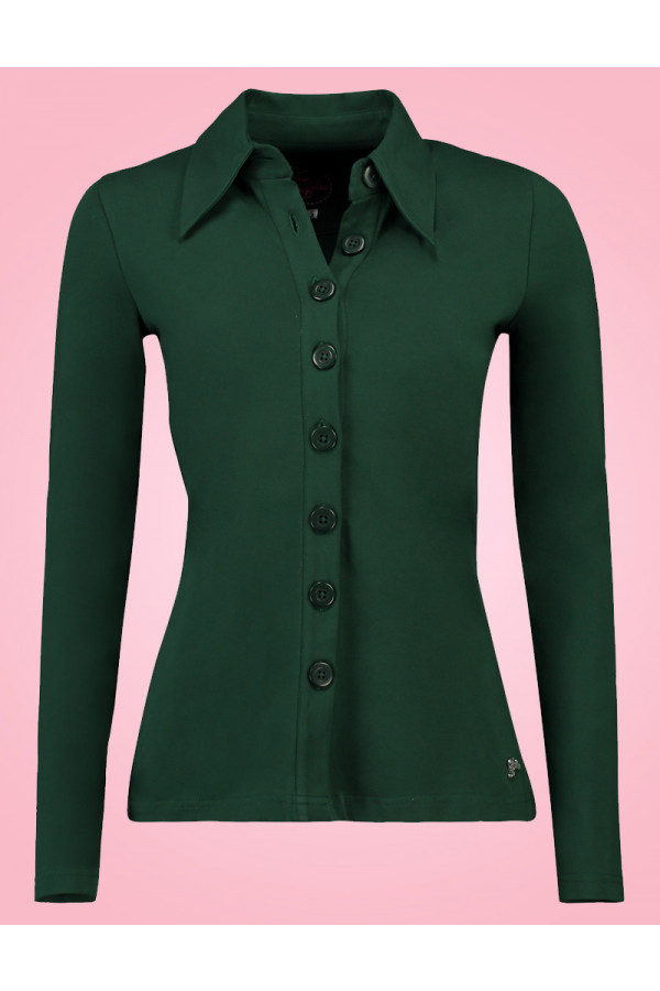BUTTON SHIRT GREEN
