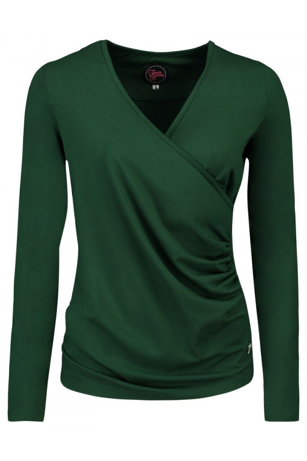 LOOSE CROSS TOP GREEN