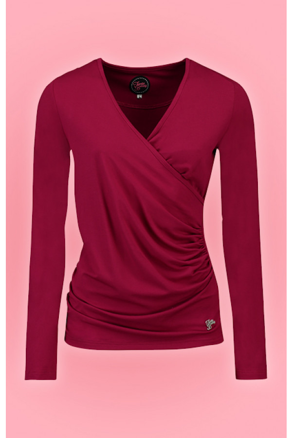 LOOSE CROSS TOP CERISE