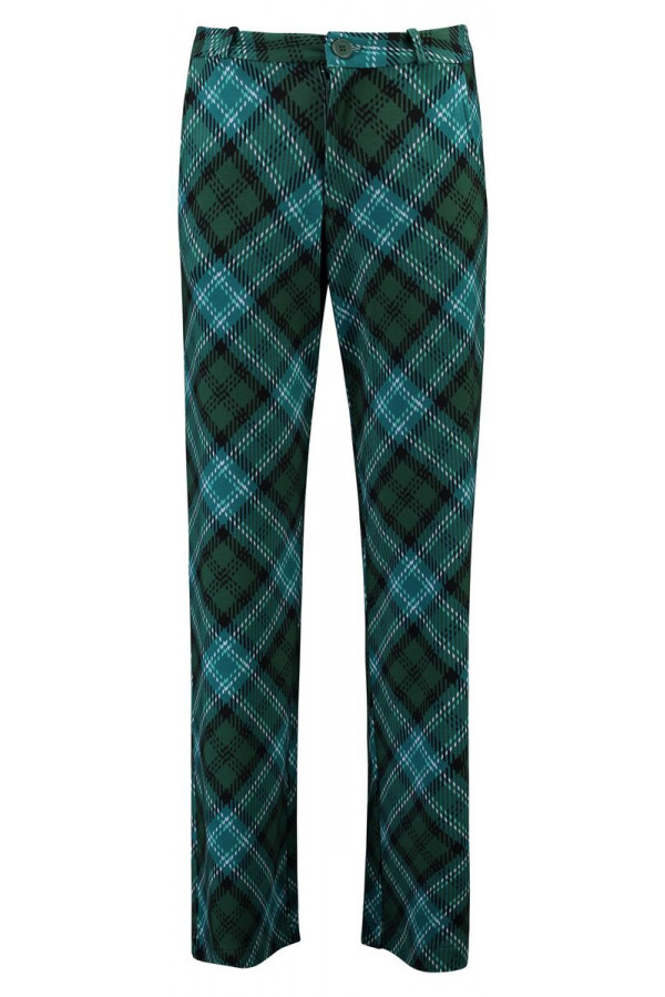BAGGY TROUSERS TARTAN GREEN