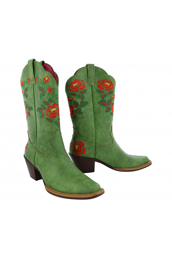 Betsy Boot Cowgirl Green
