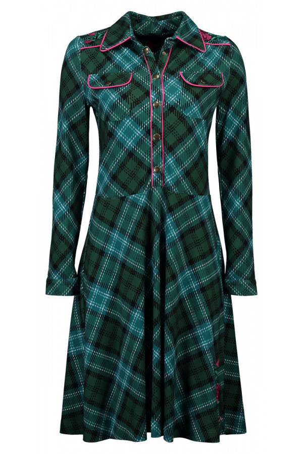 DRESS TEXAS TARTAN GREEN
