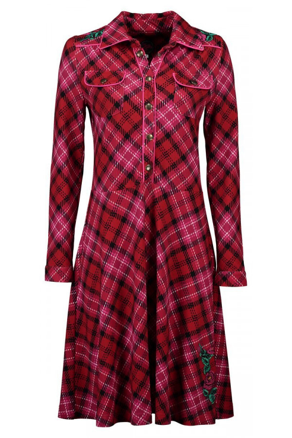 DRESS TEXAS TARTAN RED