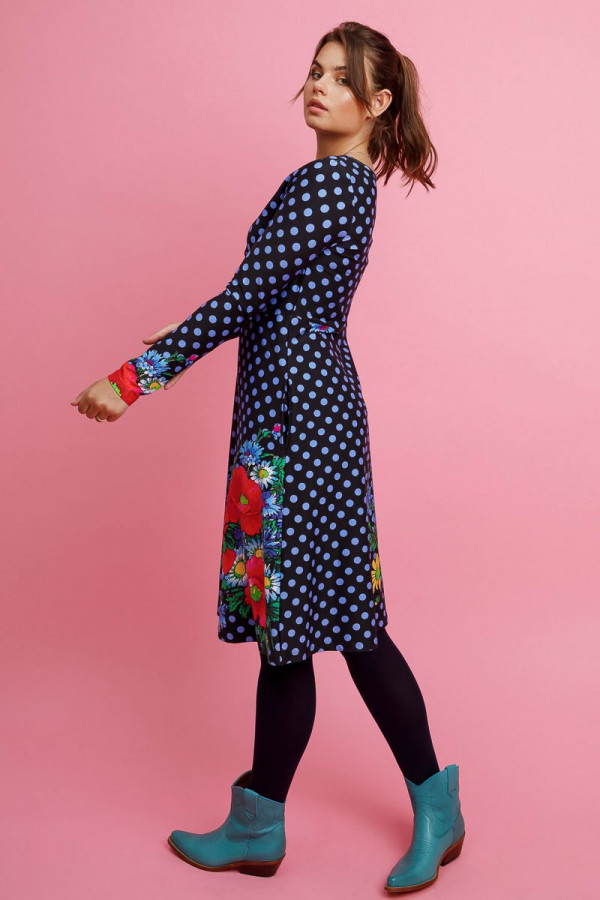 DRESS BETTY POPPY DOT BLACK