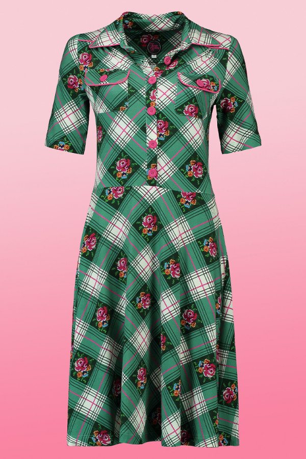 Dress Texas Cottage Green