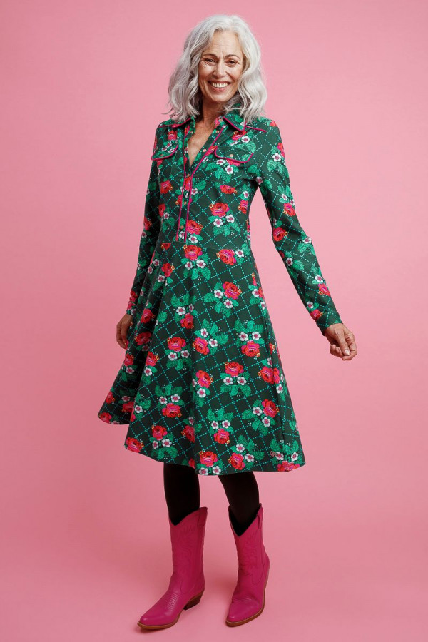 DRESS TEXAS ROSE STICH GREEN