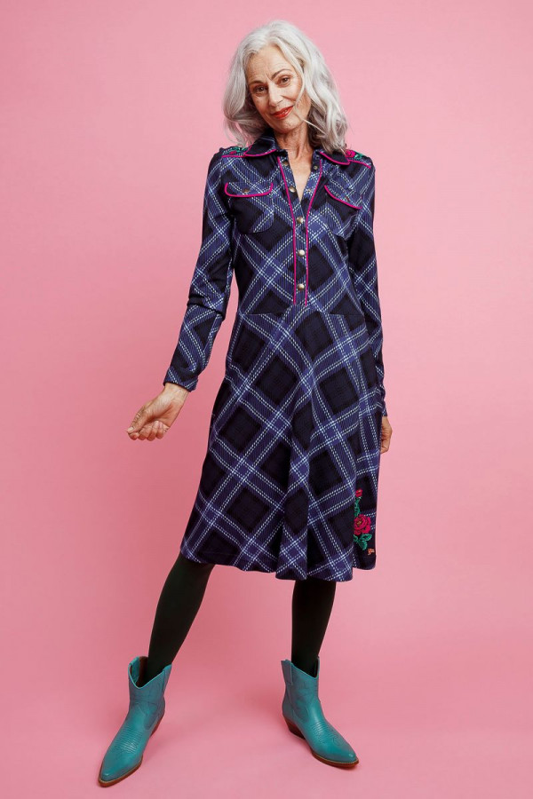 DRESS TEXAS TARTAN NAVY