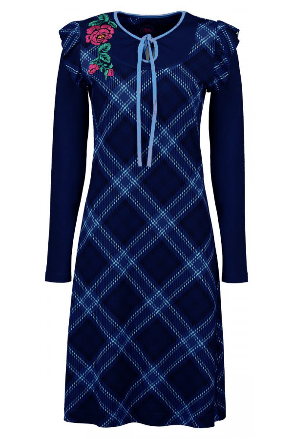 DRESS PAOLA TARTAN NAVY