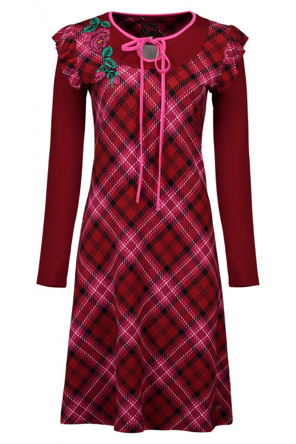 DRESS PAOLA TARTAN RED