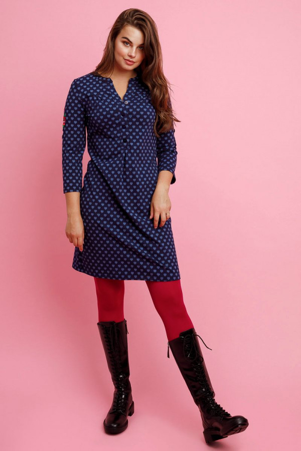 SOUP DRESS HEARTS NAVY