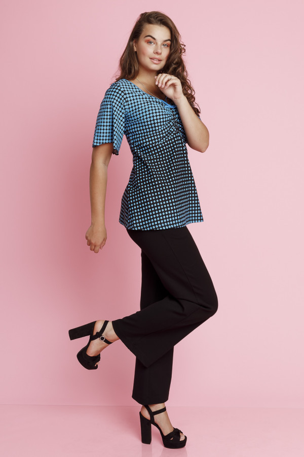 Top Butterfly Disco Dots Black