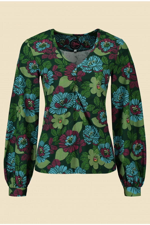 Top Shahira Forest Green
